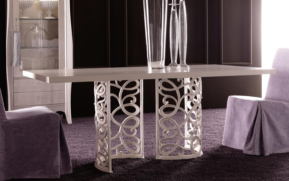 Flora Art. 223-RS1M, Table with elegant aluminum base