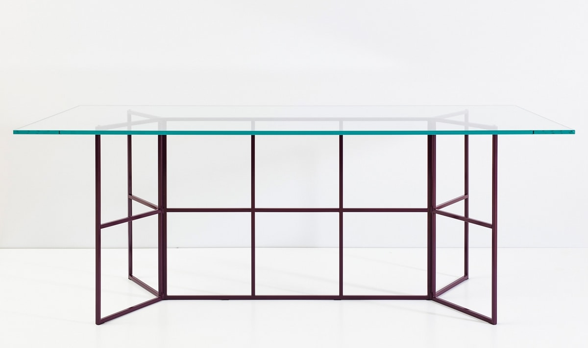 Frame, Table with tubular iron base