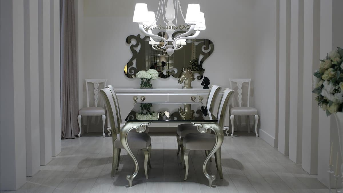 George table, Table with aluminum legs, granite top