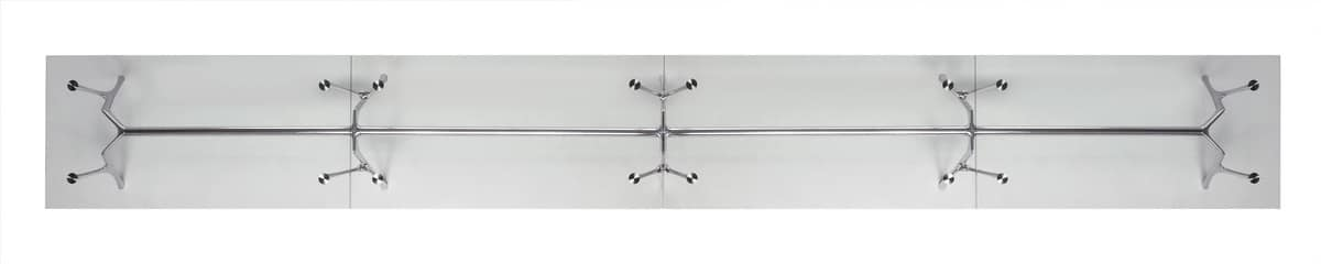 Pegaso Infinity, Modular aluminum table with glass top