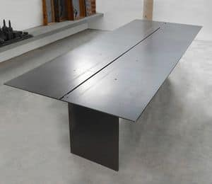 ART. 262/F STEEL, Elegant table, in metal coated wax