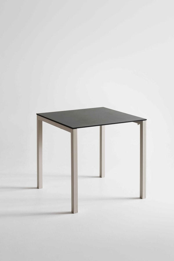 Claro, Table with metal base, laminate top, for bars