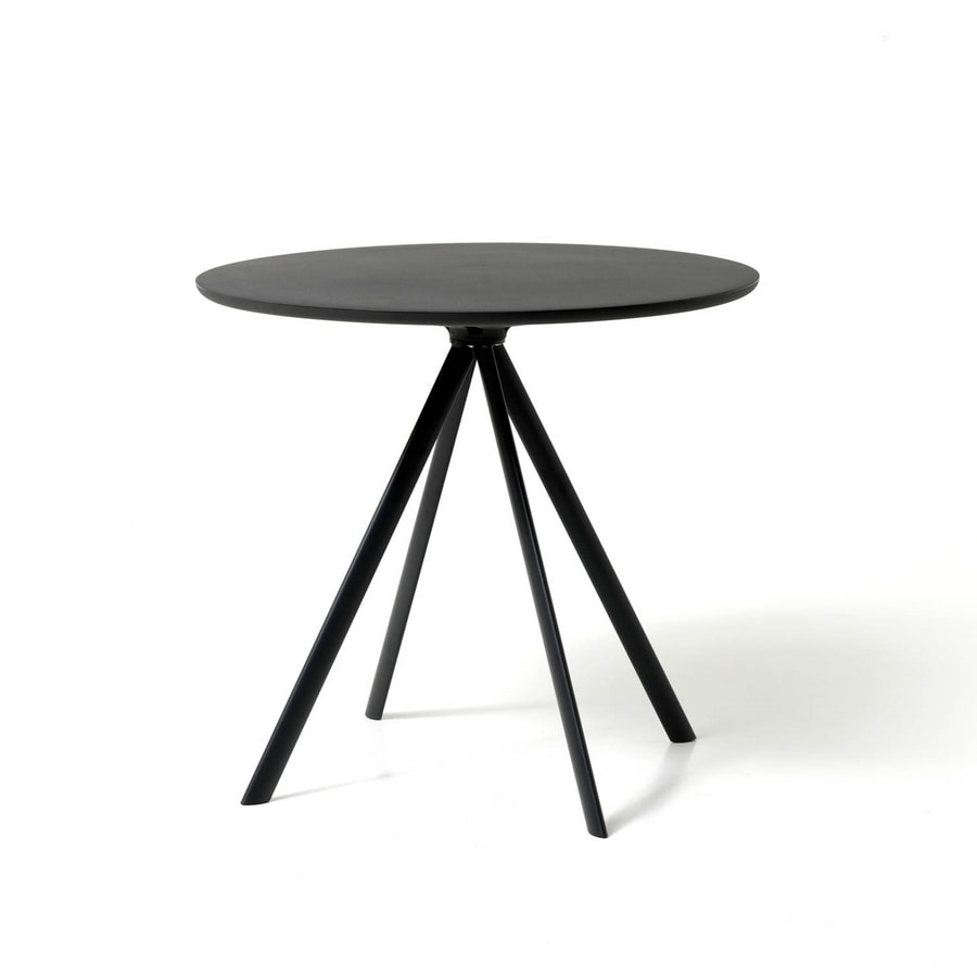 Margarita tavolo, Round table with 4 metal legs, with polyethylene top