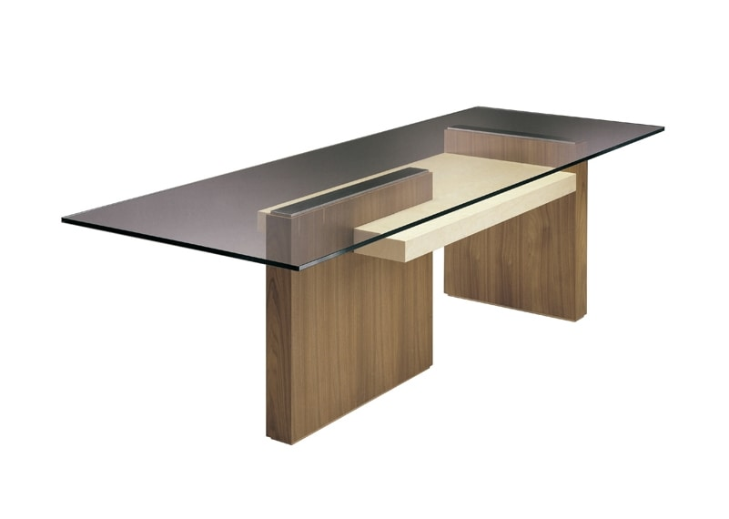 Cartesia 5707, Table with glass top