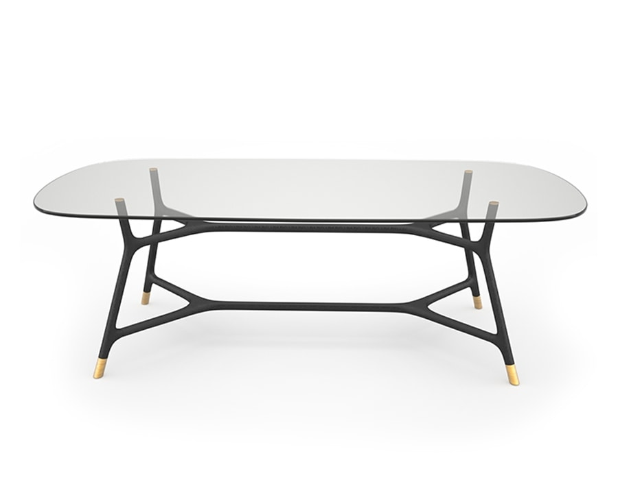 Joyce 5701/F, Elegant table with glass top