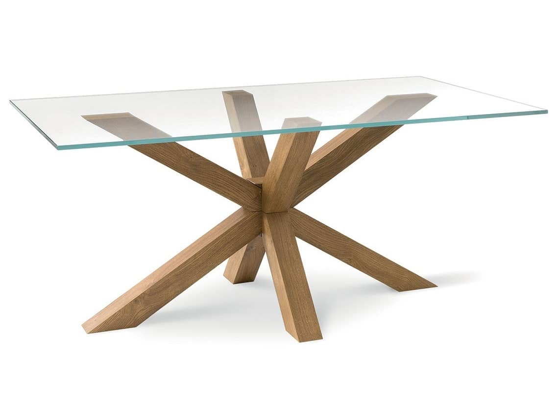 Modern table with glass top, for living room | IDFdesign