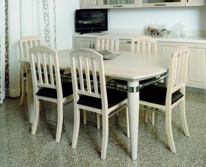 Alì 111, Dining table in bleached ash wood
