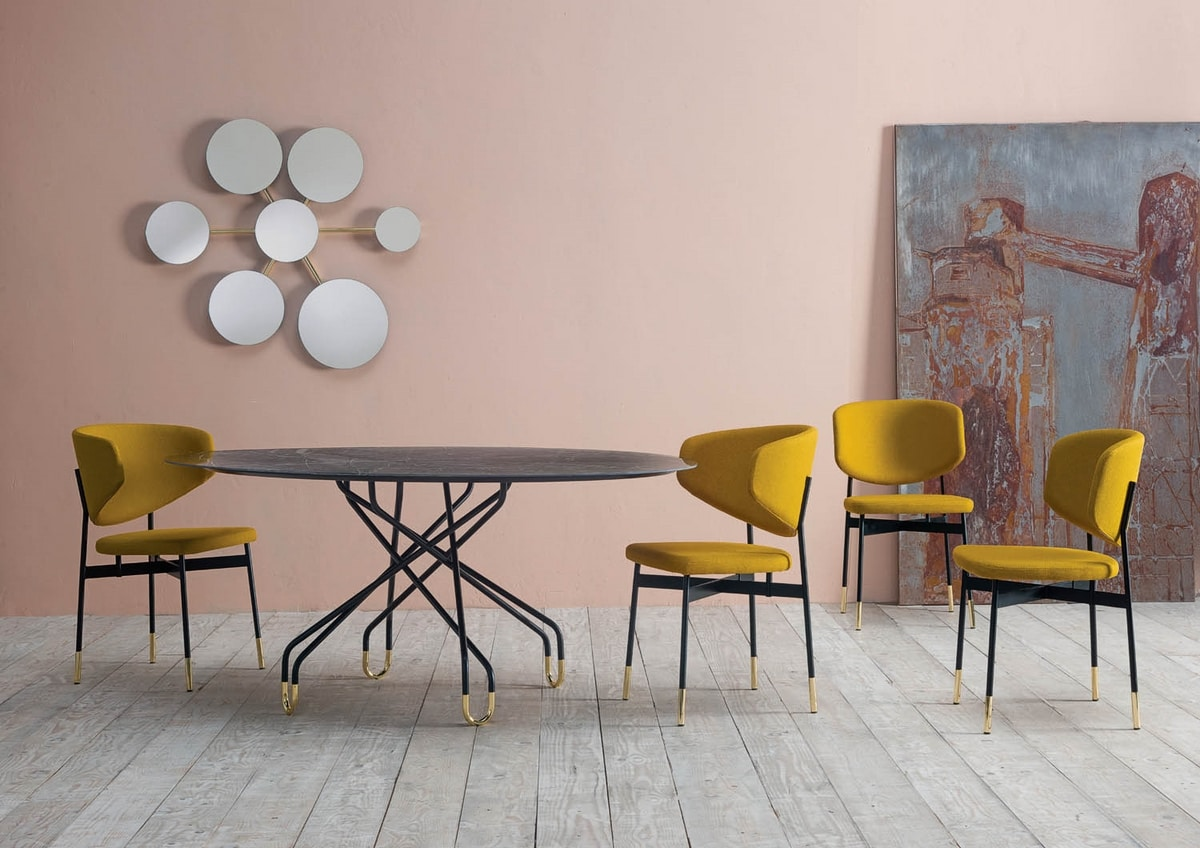 Archimede, Table with oval top