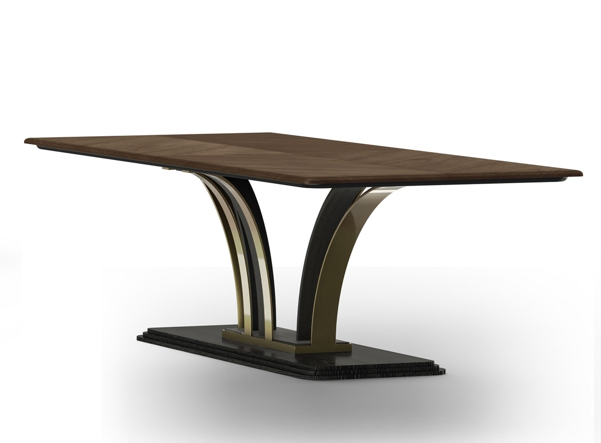 Dilan Art. D04, Dining table with geometric base