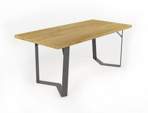 Doppiaelle, Table with handmade iron base