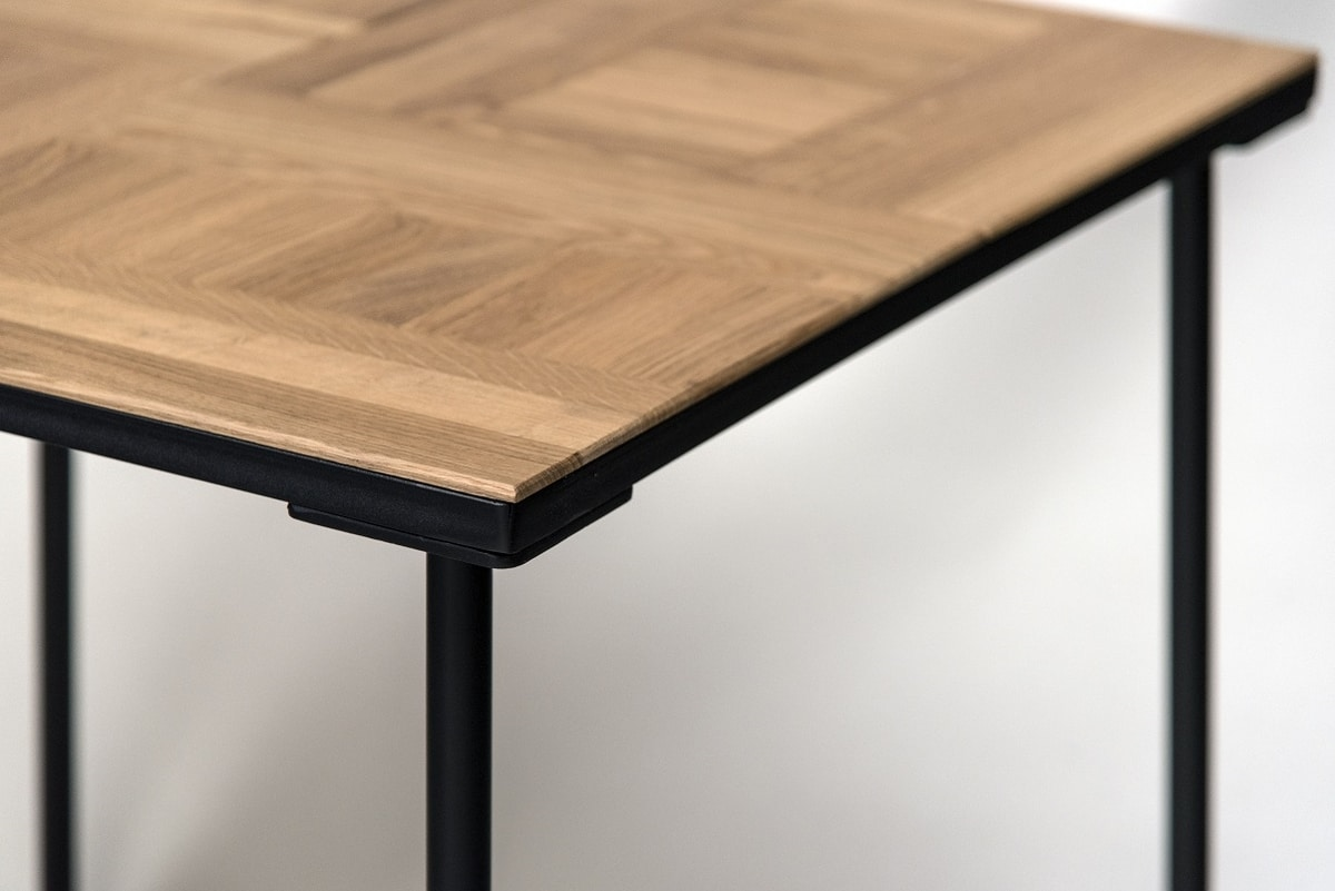 EAGLE T10, Table with top in natural solid oak