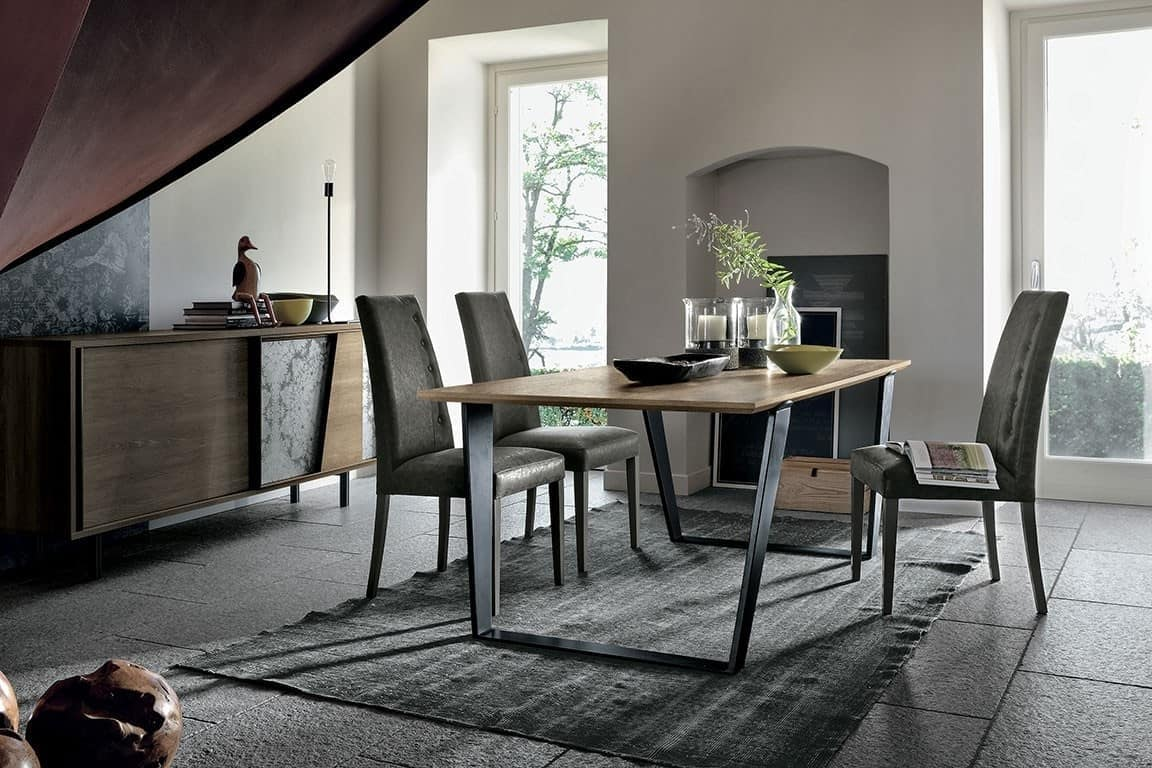 ELECTA 180 TP125, Dining table with a vintage taste