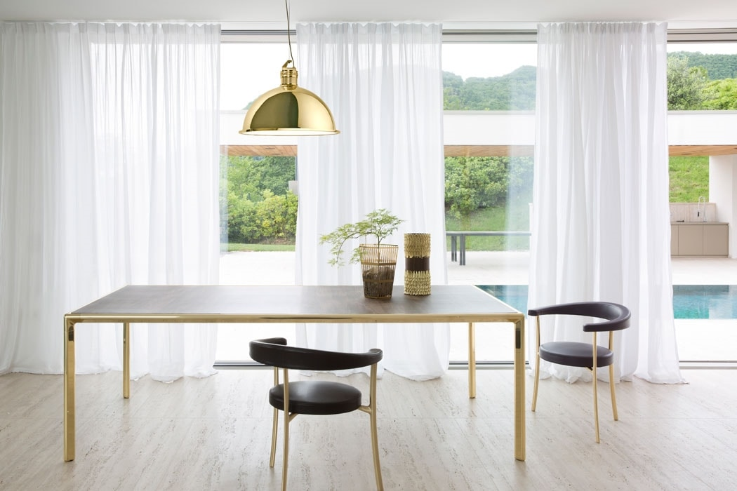 Frame Dining Table, Die-cast aluminum table