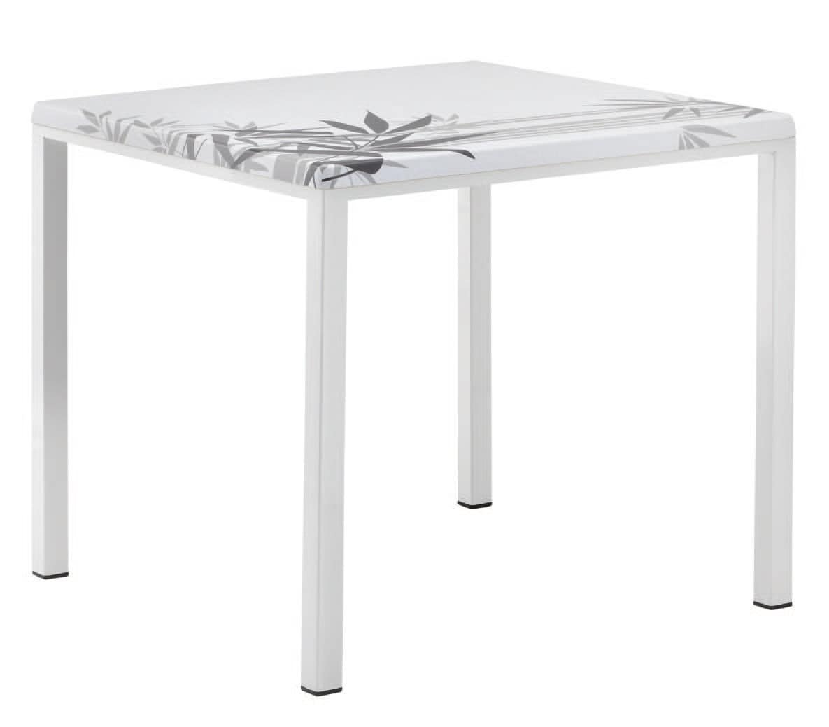 FT 044 square, Table with painted metal base ideal for bar