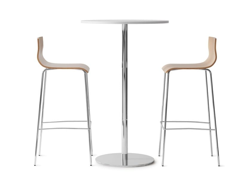 HIGH TABLE MFC, High table in steel with melamine top