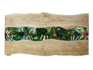 Life Amazzonia, Table with wood and lava stone top