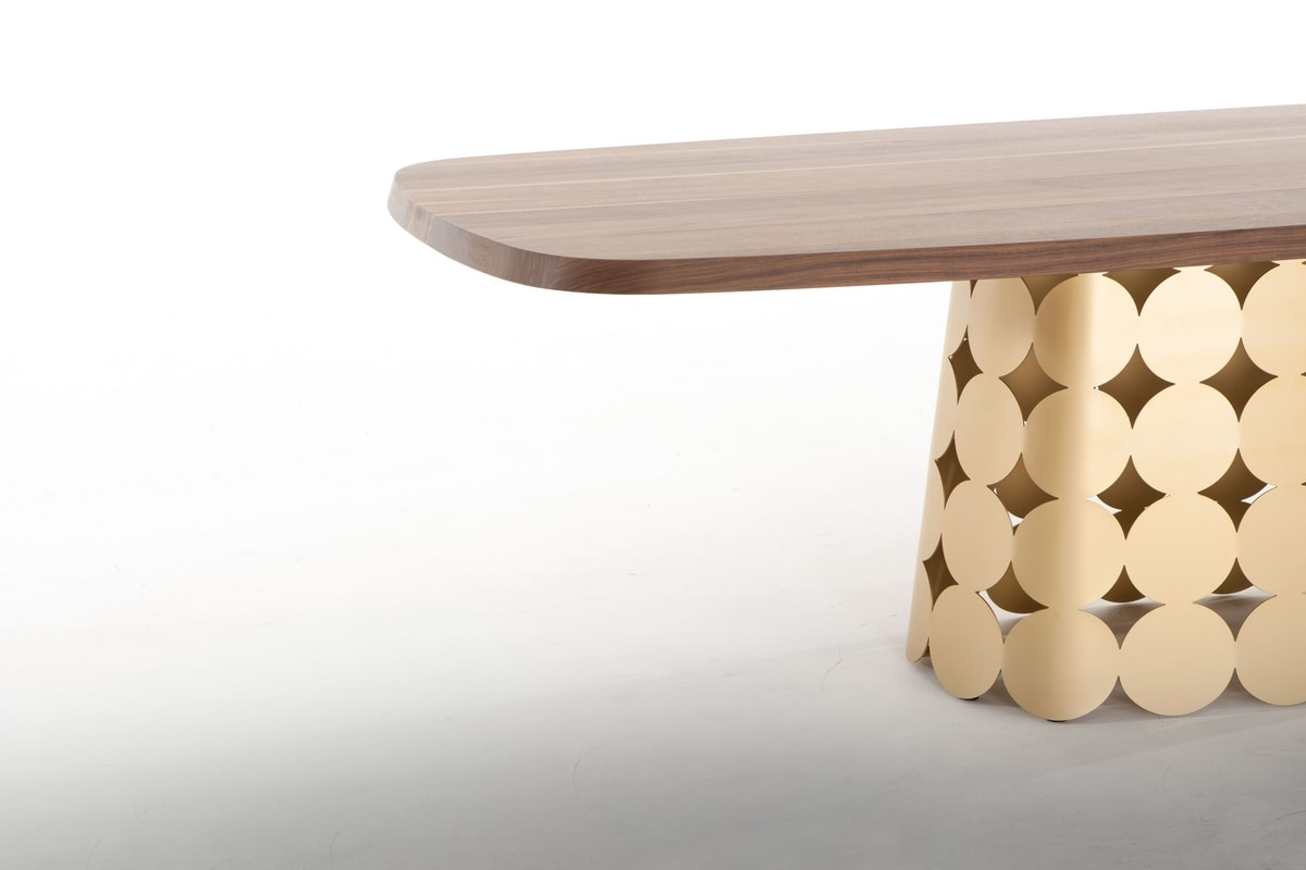POIS, Fixed table, with wooden or ceramic top