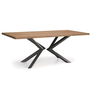 Shift-U, Table with solid wood top