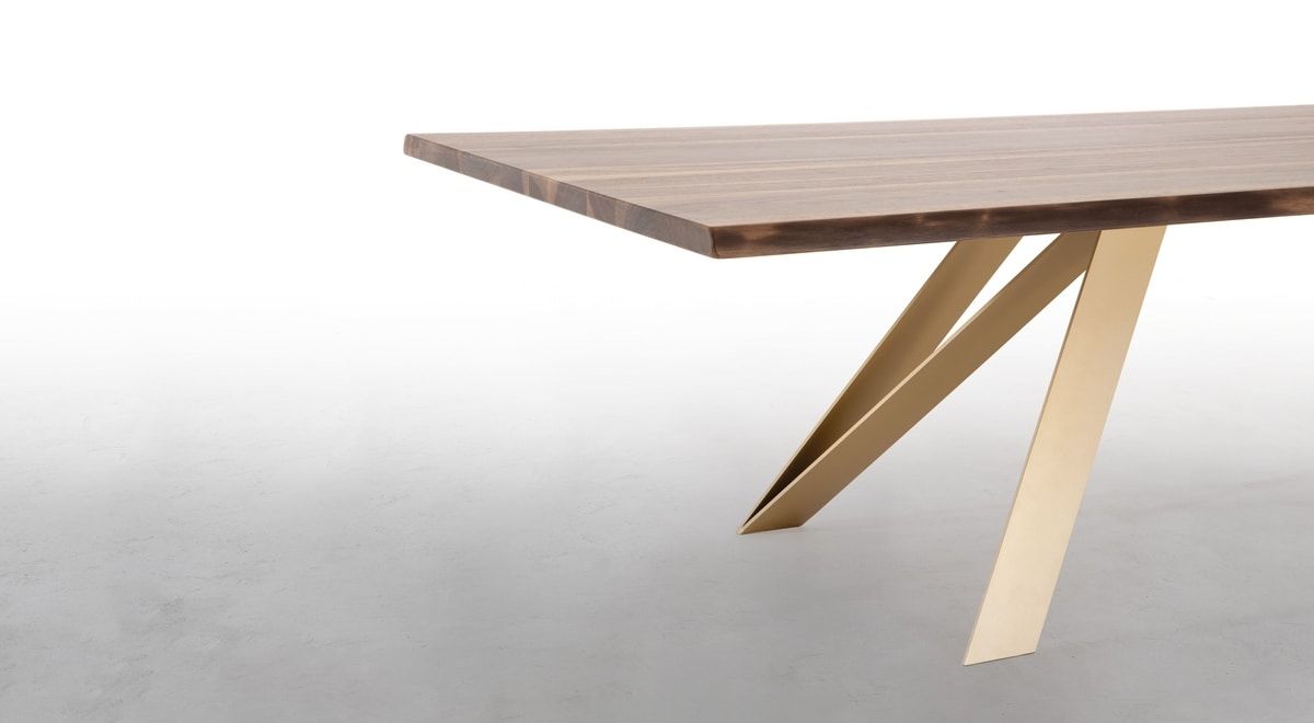 STATUS, Fixed table, with wooden or ceramic top