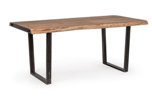 Table Elmer 180X90, Table with hand-worked wooden top