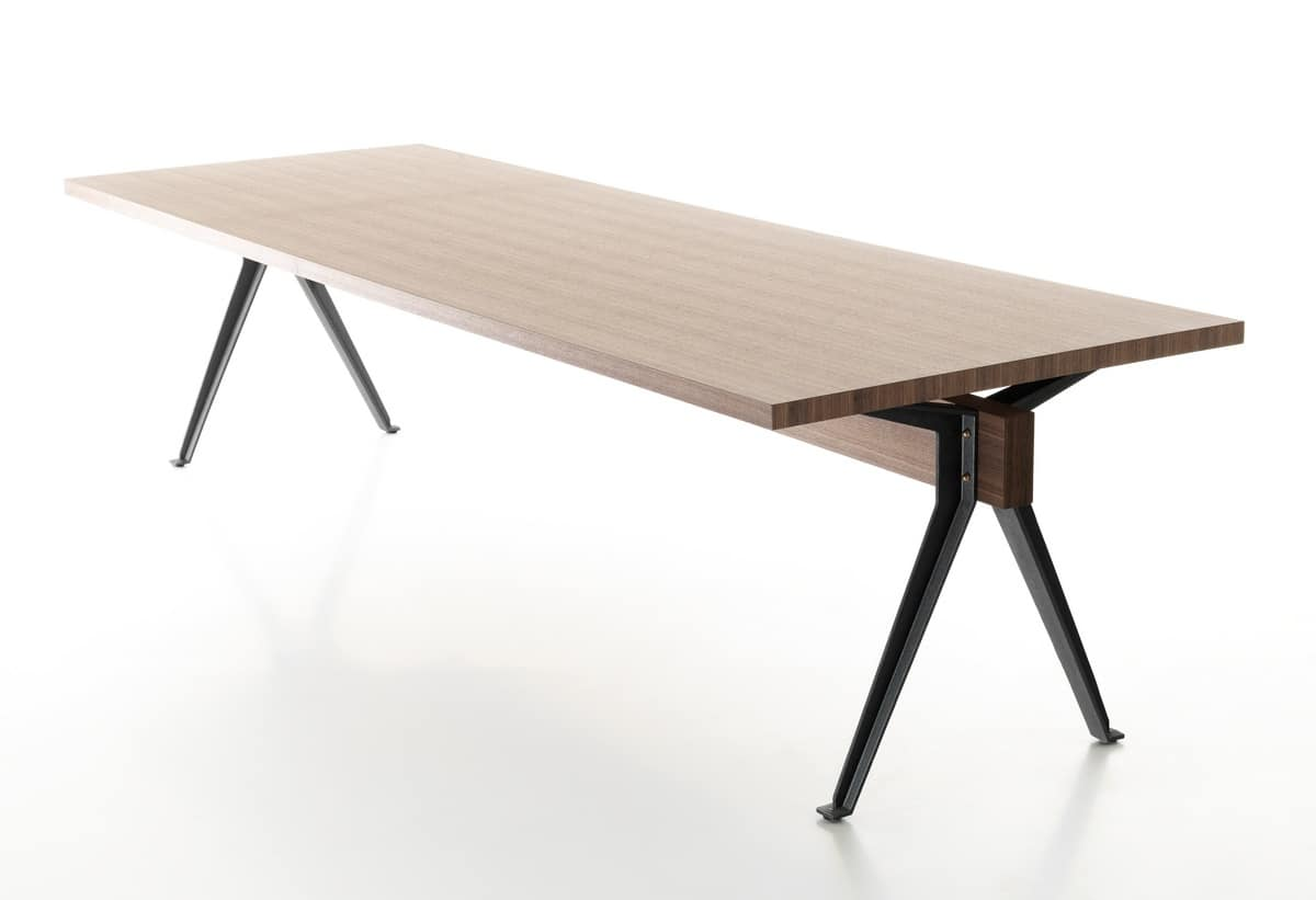Volta Table Design With Cast Iron Legs T Profile