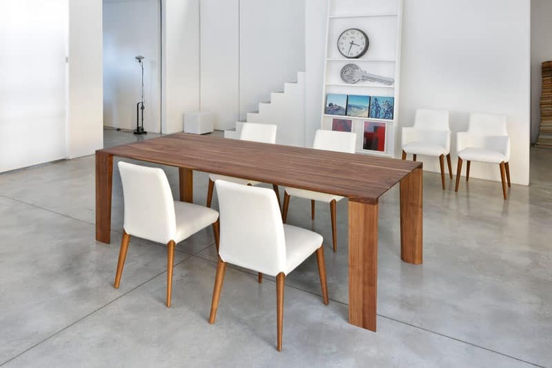 ART. 259/F OLIMPO, Contemporary dining table, wooden base