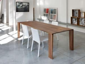 ART. 260/F ZEN, Table in solid wood, for modern kitchen