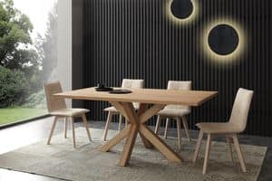 Art. 709 Cartesio, Modern fixed table, naturally stained ash