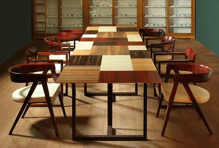 Campiello 5726, Table with top made up of various wood essences