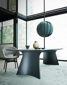 Caruso table, Elegant table in bentwood
