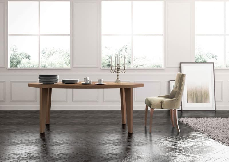 Cortina, Linear dining table, fitted, classic lounge