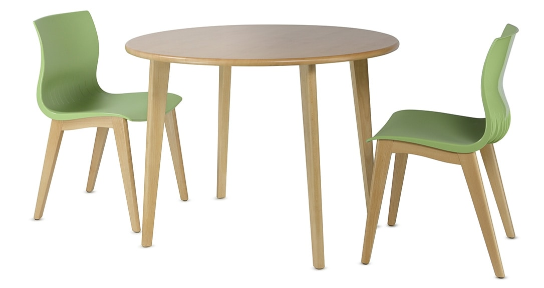 HIRO 1462, Wooden table with round top