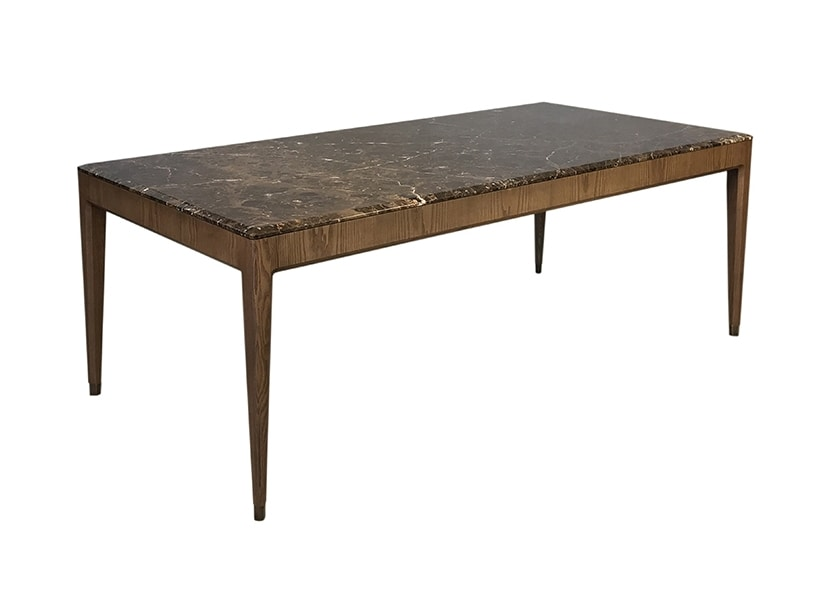 Italo 5728/F, Wood table with marble top