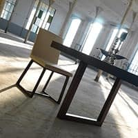 Kartesio, Extendable dining table, in oak or walnut