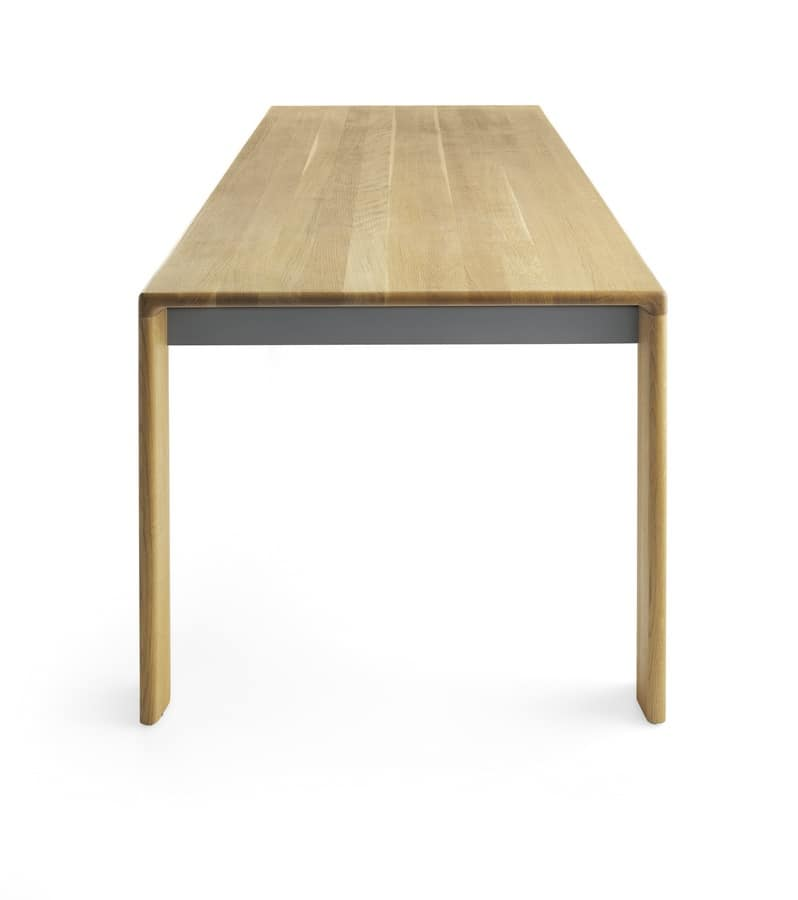 Madera, Table completely made of solid wood for meeting rooms