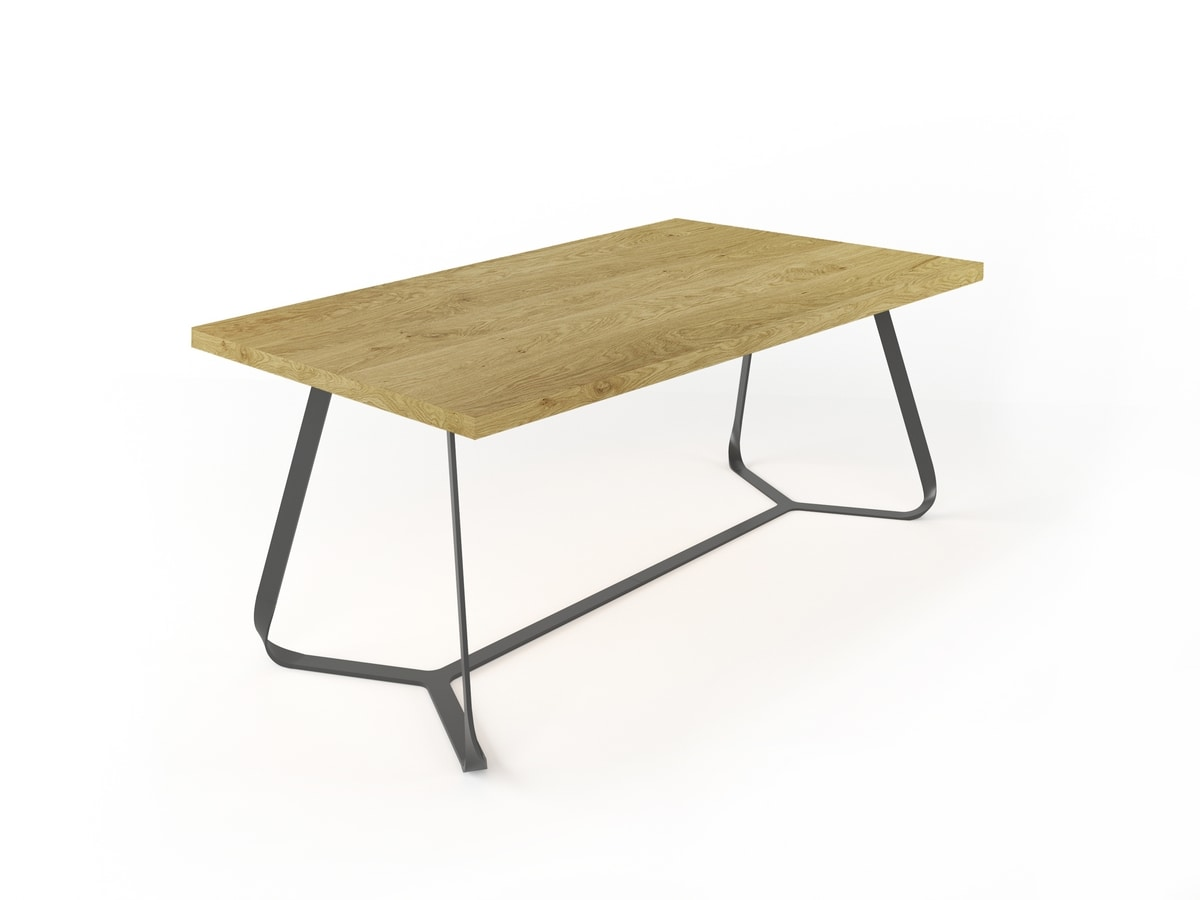 Maestrale, Rectangular table in solid walnut