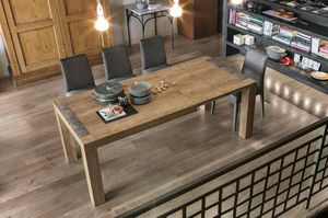 MONOLITE 160 TA506, Table with two extensions, laminate top