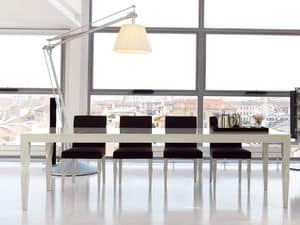 Morgan, Extendable dining table, matt or gloss