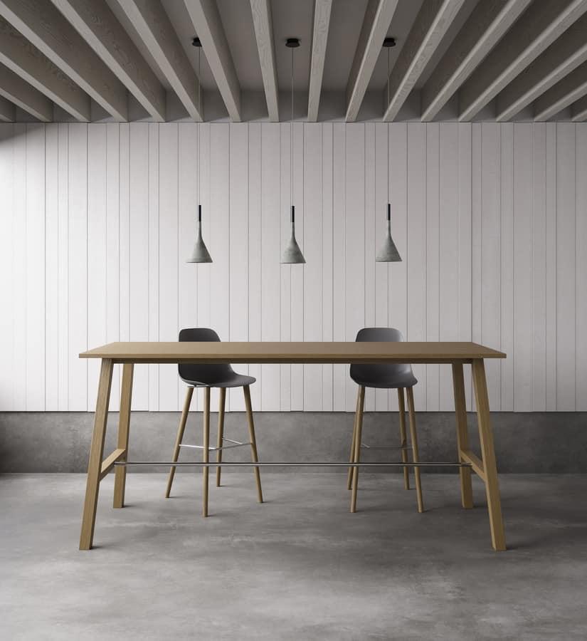 Oxton Meet 200_240, High wooden table