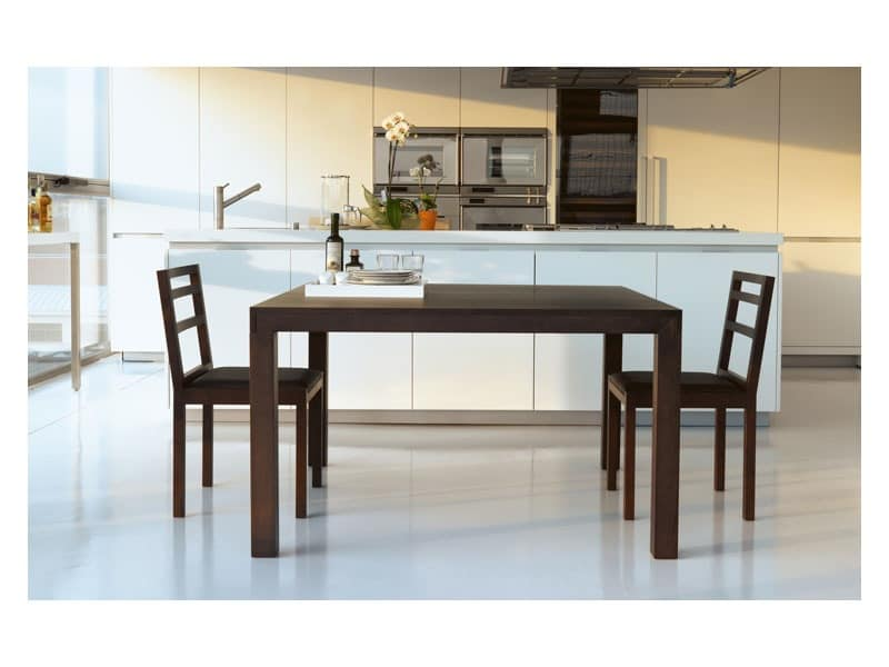 Parentesi, Rectangular table in wood, extendable