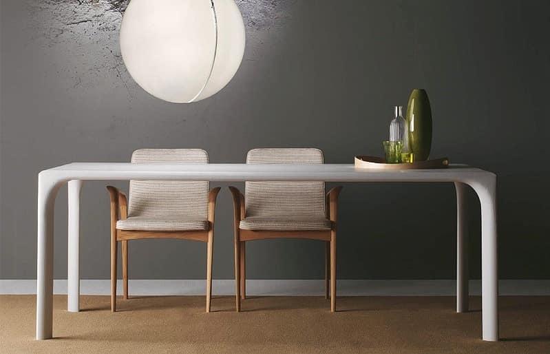 Sintesi, Table completely in oak, for Modern Kitchen