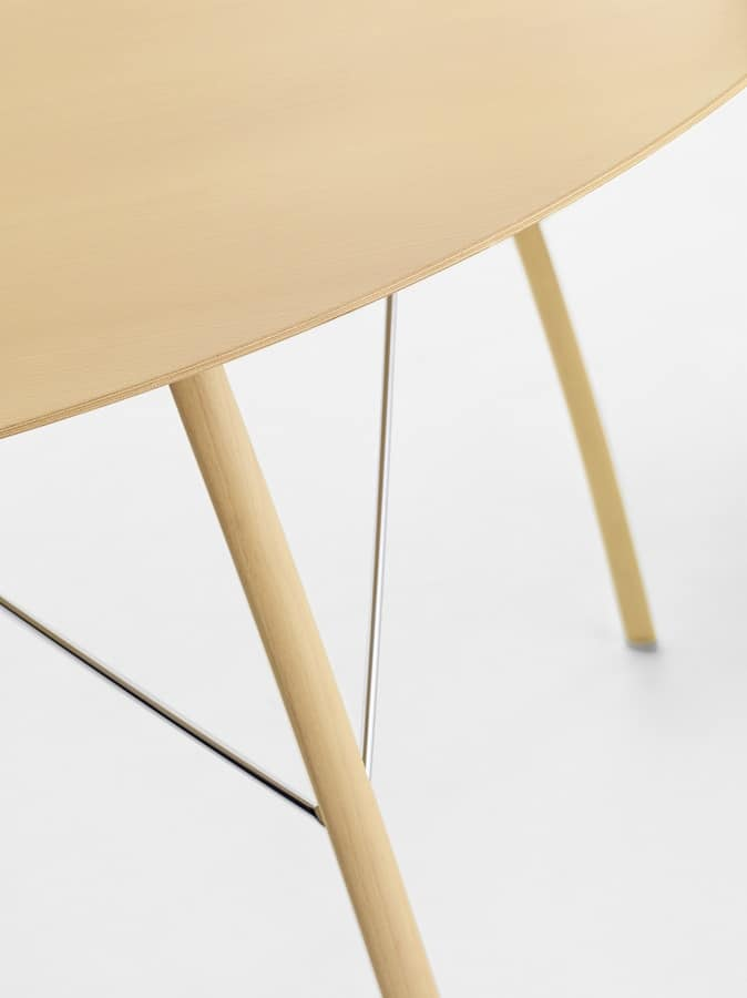 Sospeso R, Dining table with round top