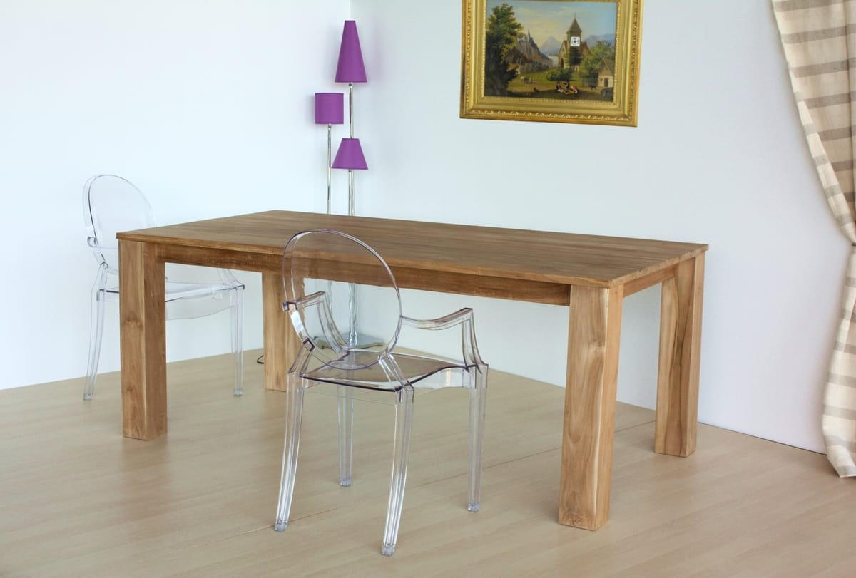 Table square, Rectangular table in natural teak wood