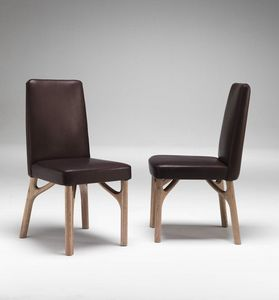 6105 Arpeggio/S, Dining chair in wood, padded