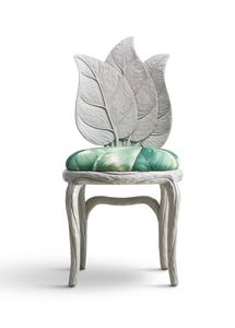 6715 Clorophilla, Chair with leaves shaped backrest