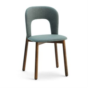 Aiko W, Chair with wooden base