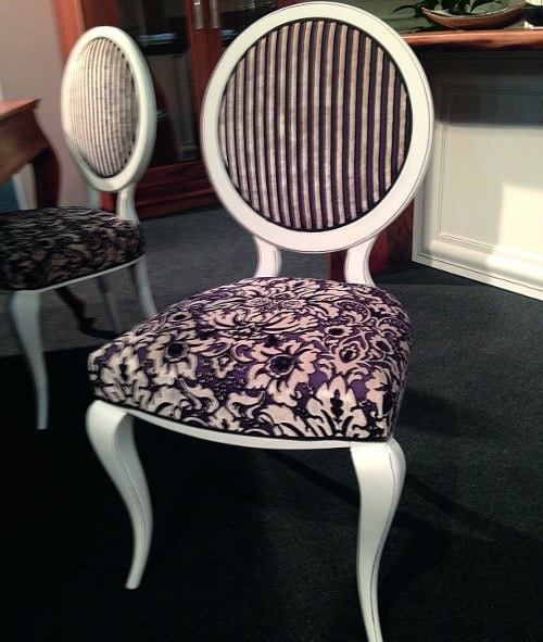 Alhena 106, Dining chair with round backrest