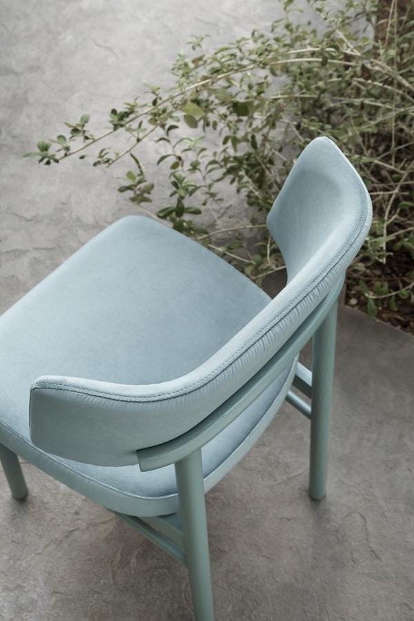 ART. 0151-LE-IM MARLEN, Padded wooden chair