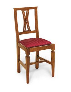 Art. 123, Classic style chair, with upholstered seat