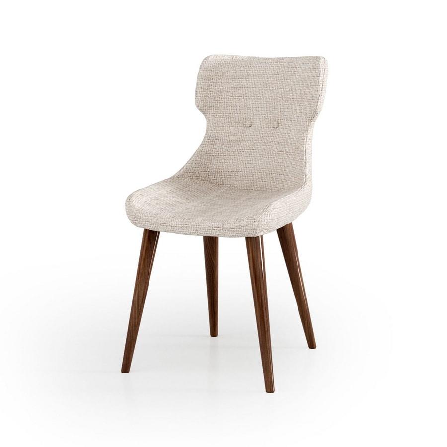 ART. 3427, Upholstered chair, legs in walnut